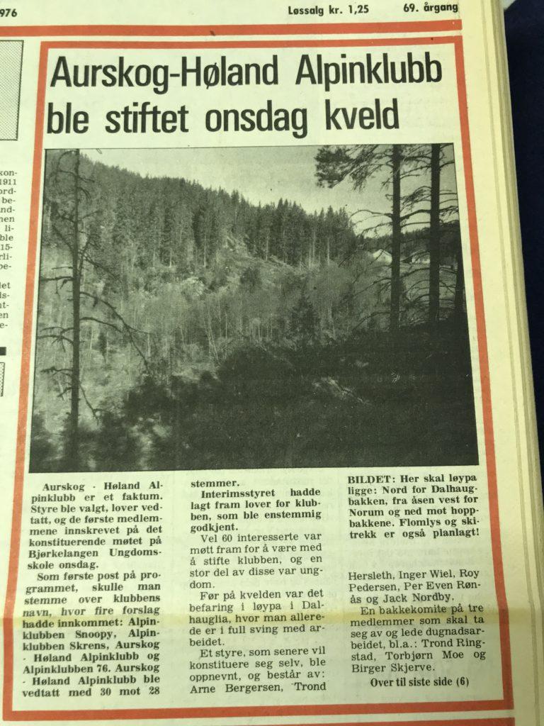 Aurskog-Høland Alpinklubb ble stiftet